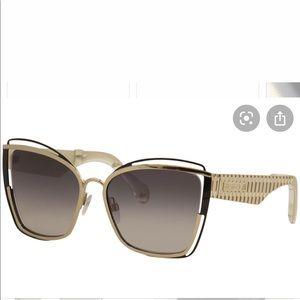 Gold Roberto Cavalli Monticiano Cat Eye Sunglasses